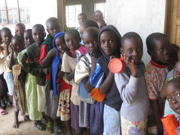 4286690-Kids-from-Tumaini-waiting-in-line-for-Uji-meal-0