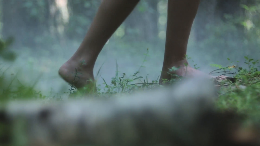 close-up-of-girl-bare-feet-walking-on-a-green-grass-in-the-forest_hczyjgtn__F0007